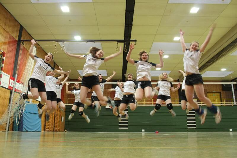 Volleyball Damen 2 Team Funfoto