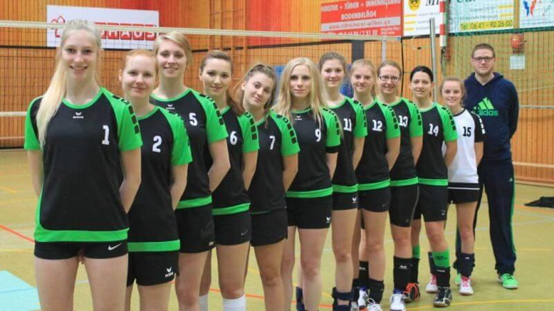 Mannschaftsbild Damen1 TSG Lollar Volleyball