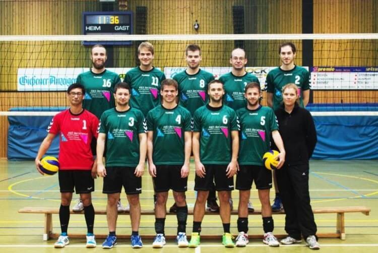 Mannschaftsbild Herren TSG-Lollar Volleyball