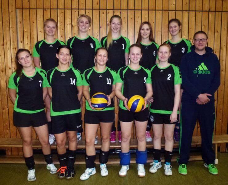 Mannschaftsbild Damen1 TSG-Lollar Volleyball