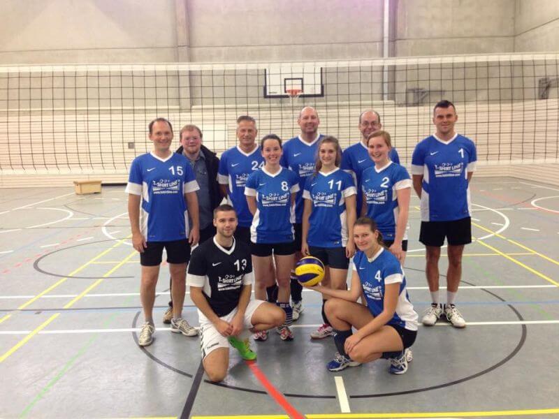 Mannschaftsbild Mxies TSG-Lollar Volleyball bei Gießen