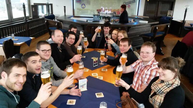 Volleyball TSg Lollar Ausflug Gießen Brauerei 1 Herren