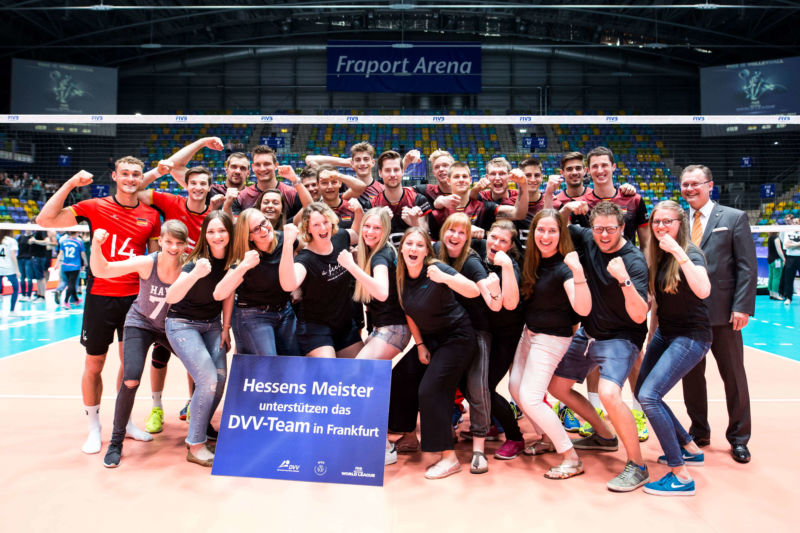 TSG Lollar Volleyball Damen1 mit Herren Nationalmannschaft 2017
